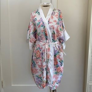 Just my size 4X floral lingerie Robe pastel